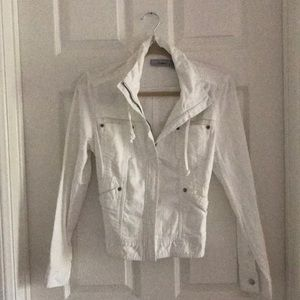 Chico white zipper jean jacket